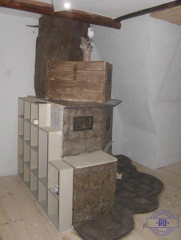Камин обычный с хитринкой отделки